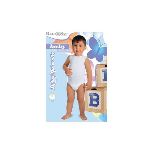 5921: Body trikó-Milk (teljszálat tartalmaz) 6-36 hónapos korig egy méret - Fehér