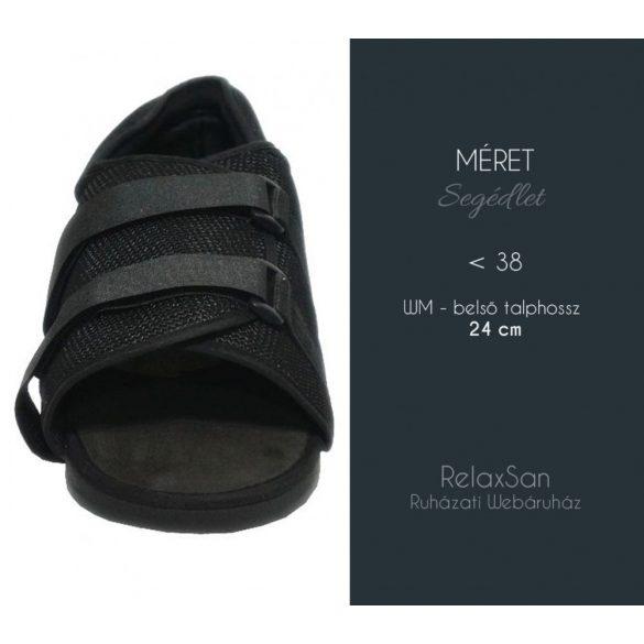 DonMedHun Járótalp  jobb és bal lábra, gipszelt kötözött lábra WM- belső talphossz 24 cm (<38) 02 Fekete
