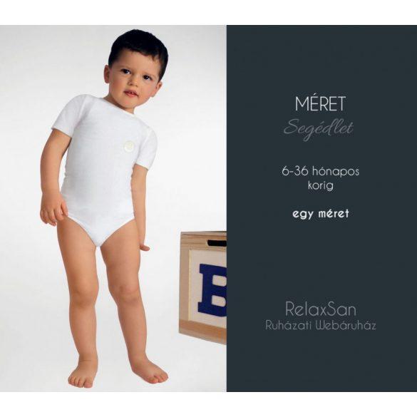 5931: Rövid ujjú body-Milk (tejszálat tartalmaz) 6-36 hónapos korig egy méret - Fehér
