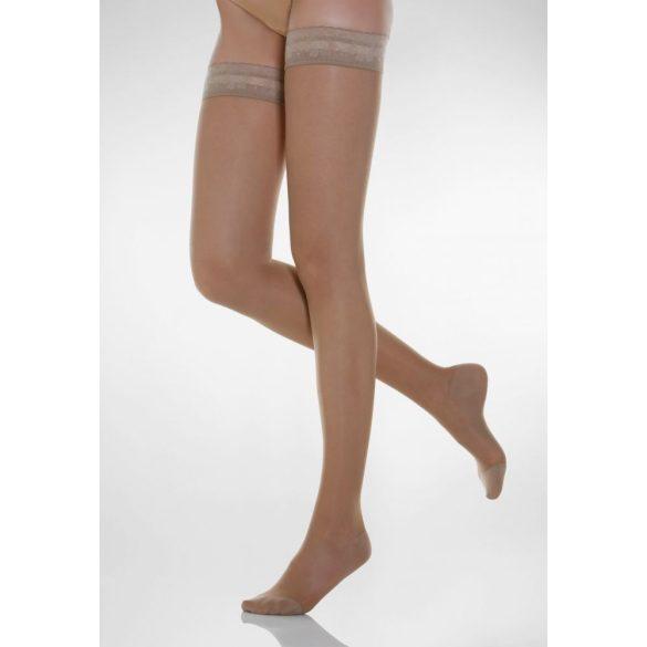 770: 70 den-es csipkés combfix /12-17 Hgmm/  2-es 02 Fekete