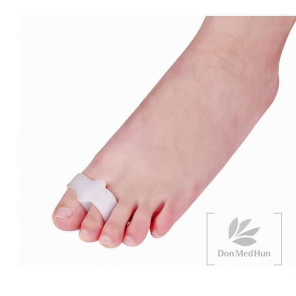 DonMedHun Kényelmi Lábujjgyűrű I és II lábujjra 01 Fehér