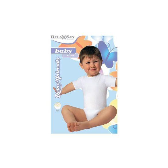5951: Póló-Milk (tejszálat tartalmaz) 6-36 hónapos korig egy méret - Fehér