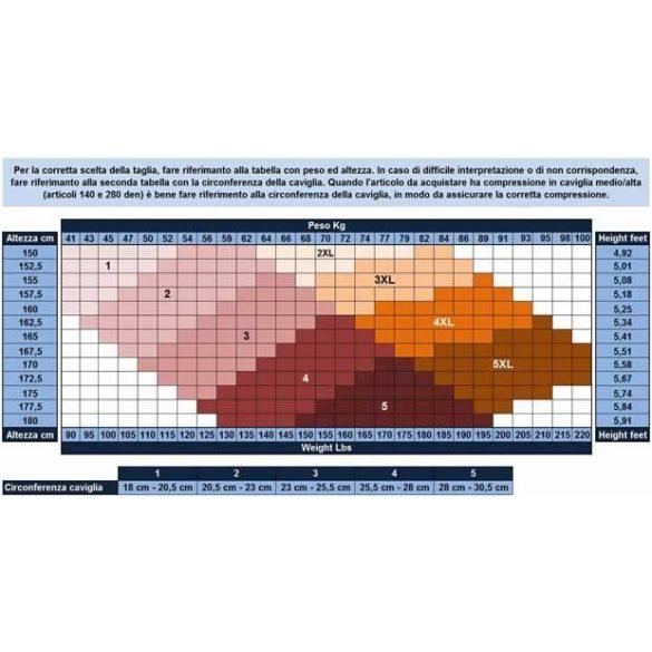 950A: 280 den-es térdfix nyitott orr (22-27 Hgmm) 5 - 36 Világosbarna