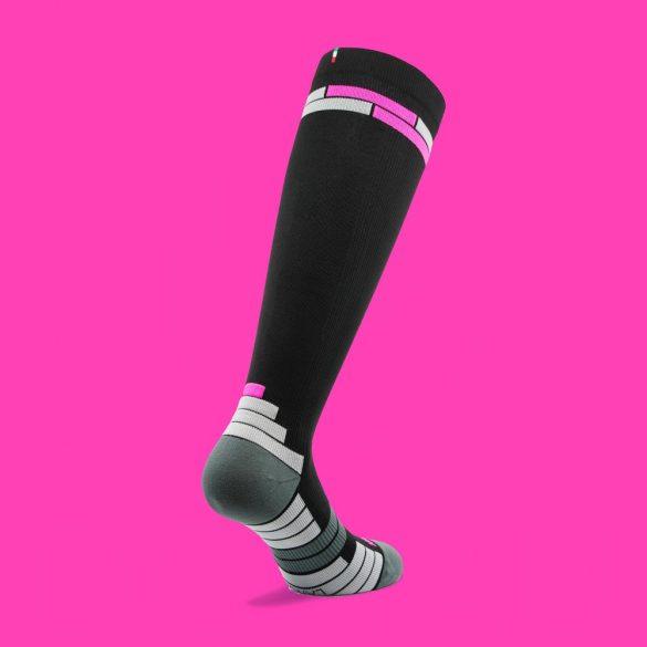 1030-01: Relaxsan kompressziós Sportzokni (18-22 mmHg) fekete/pink 2S