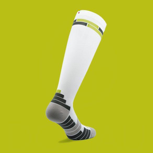 1030-01: Relaxsan kompressziós Sportzokni (18-22 mmHg) fehér/zöld 3S