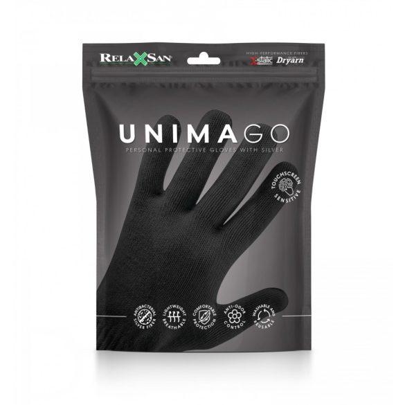 GLOV-01S RelaxSan UNIMAGO X-Static kesztyű L/XL Fekete