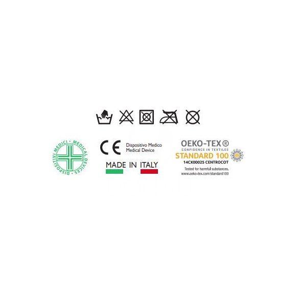 750: 70 den-es térdfix (12-17 Hgmm) sarokkiképzéssel, megerősített talppal 4 - 02 Fekete
